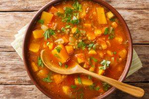 Moroccan Sweet Potato and Lentil Soup Recipe