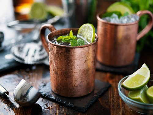 cold moscow mule cocktail