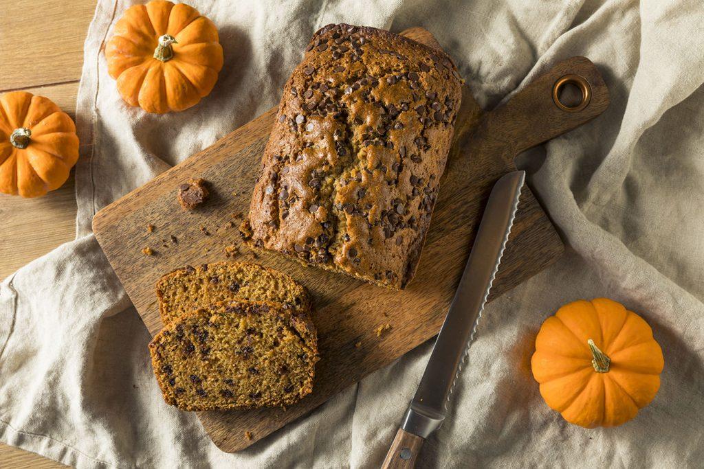 sweet nutella pumpkin chocolate bread