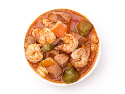 delicious chicken and shrimp gumbo