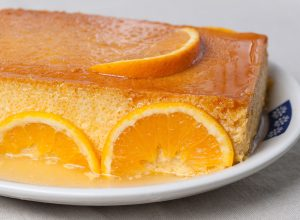 Orange Creme Caramel with Toffee Shards (Orange Caramel Flan) Recipe