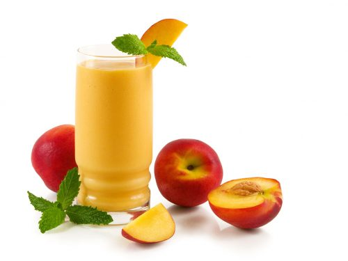 refreshing healthy peach smoothie