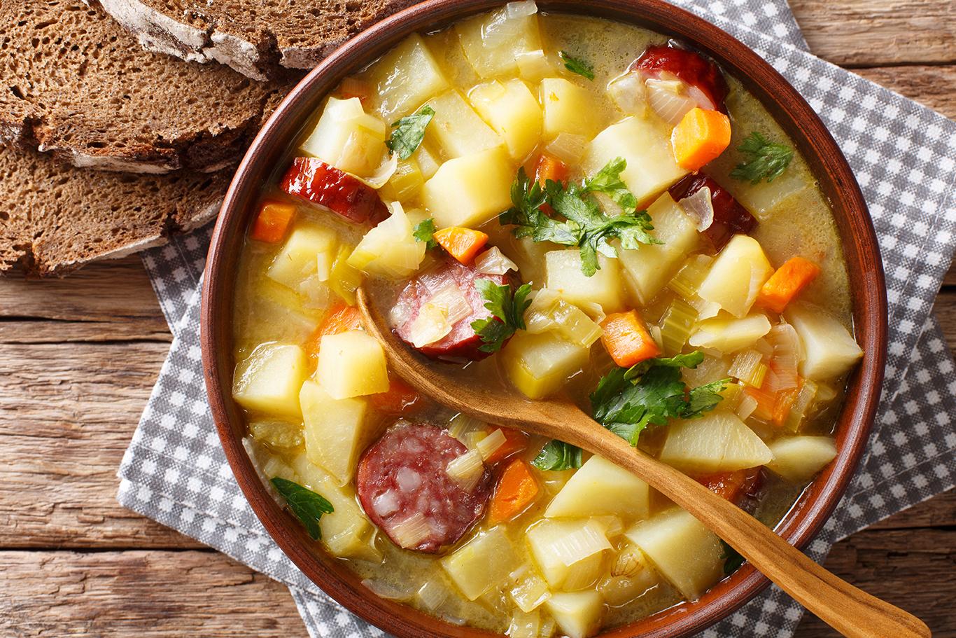 Potato and Sausage Soup Recipe