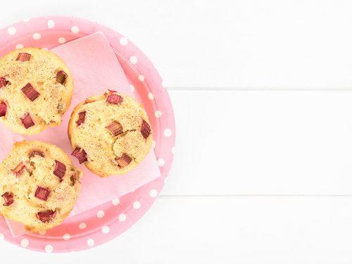 tasty rhubarb muffins
