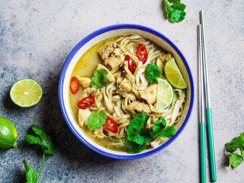 flavorful thai chicken ramen