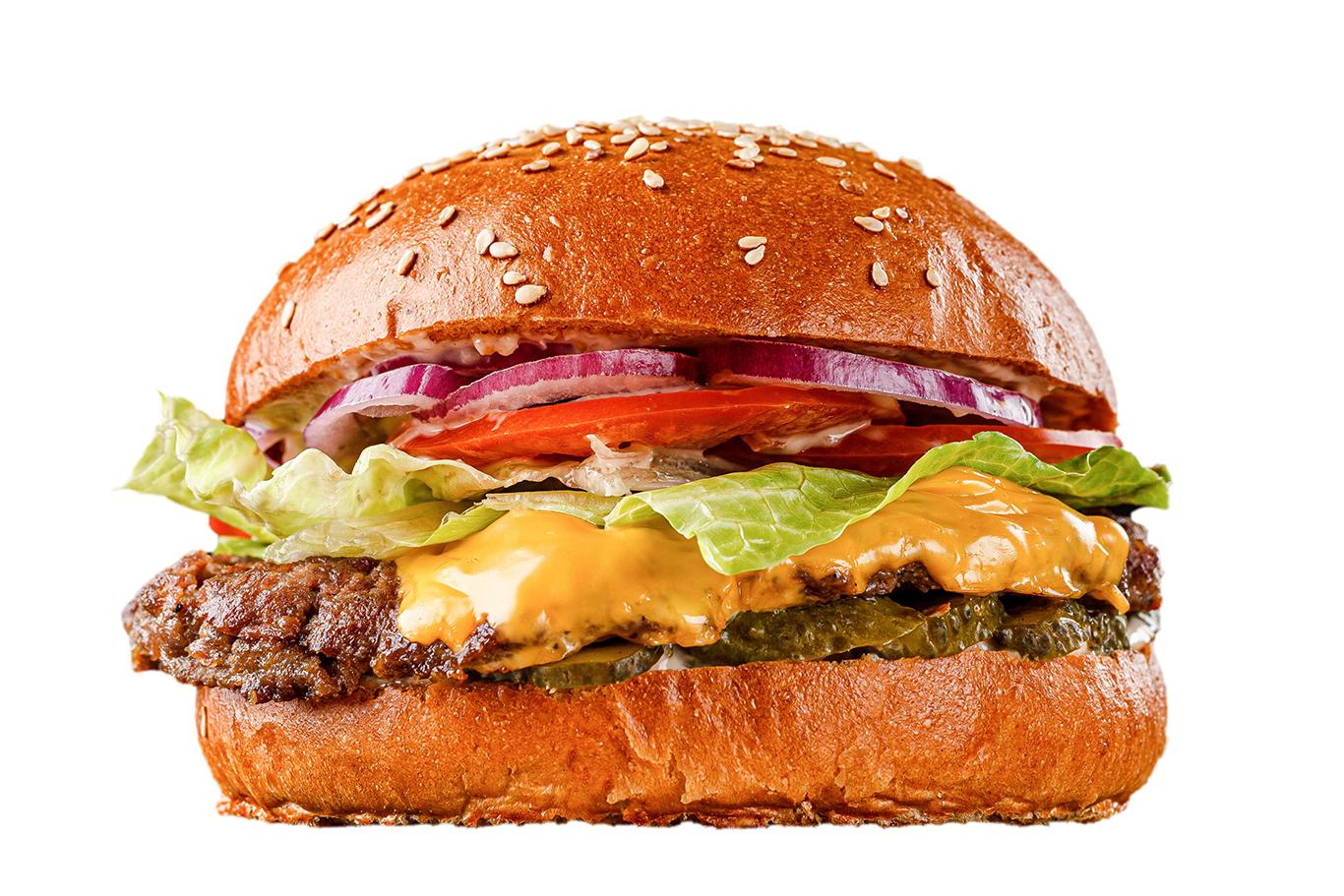 healthy vegetables cheeseburger