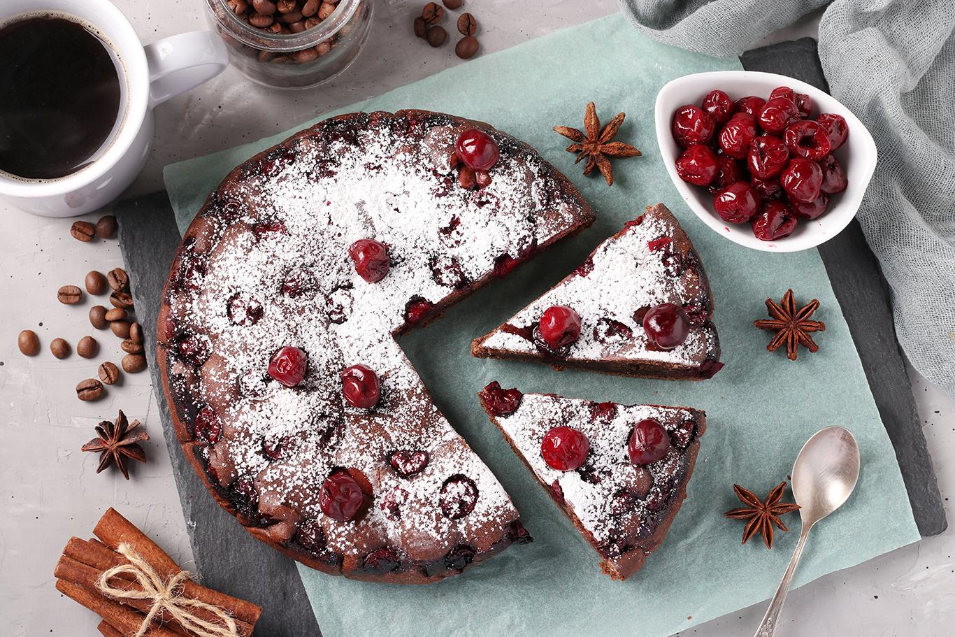 Vegan Cherry Chocolate Cake Recipe
