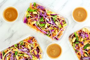 delicious thai noodle salad with peanut sauce