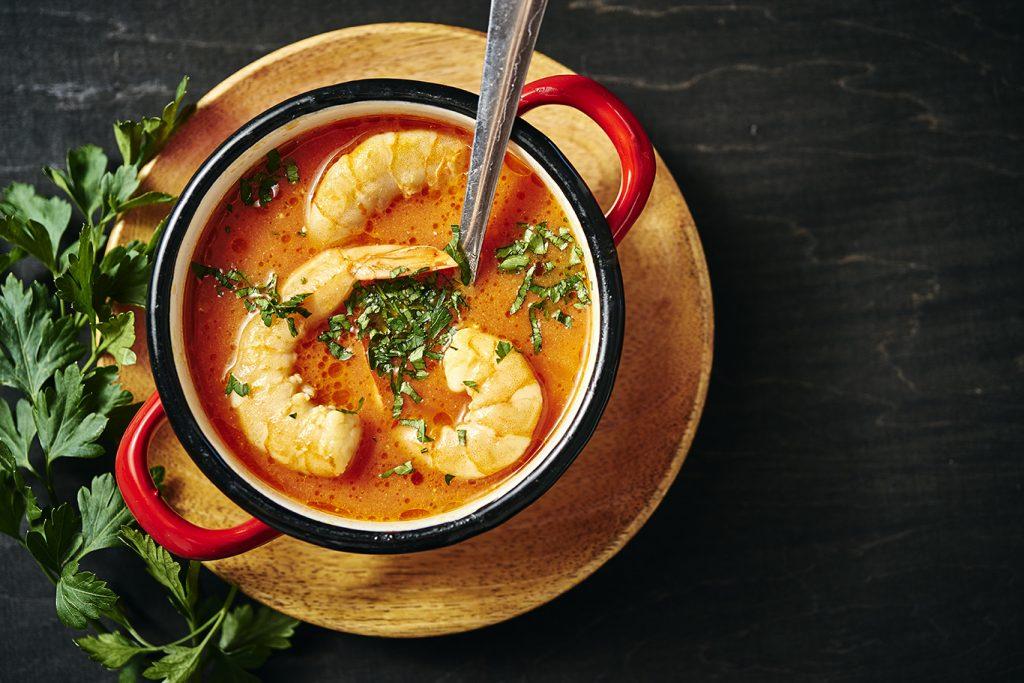 creamy thai shrimp curry