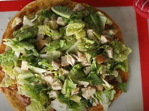 chicken caesar salad pizza recipe