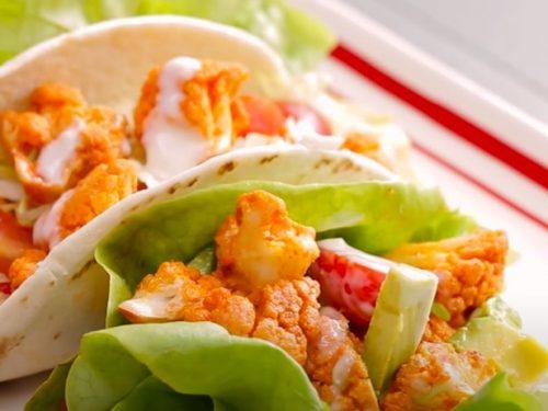 buffalo cauliflower tacos with ranch sauce recipe