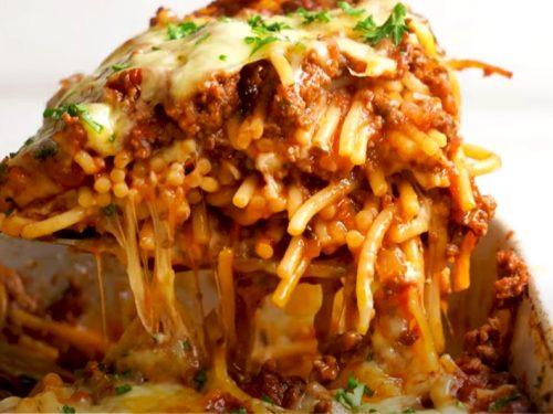 baked tex-mex spaghetti recipe