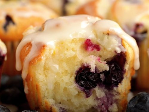glazed blueberry doughnut muffins recipe