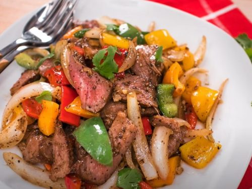 spicy thai steak and vegetable stir fry recipe
