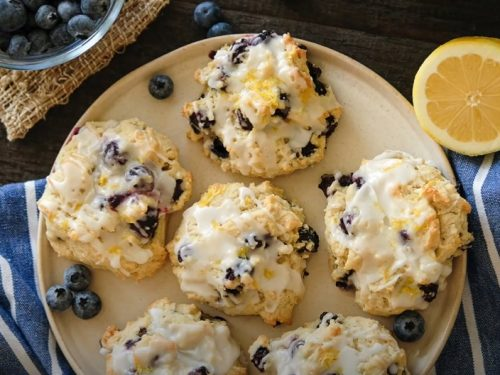 blueberry lemon cookies with lemon cream cheese frosting recipe
