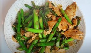 Ginger Chicken Stir-Fry with Asparagus Recipe