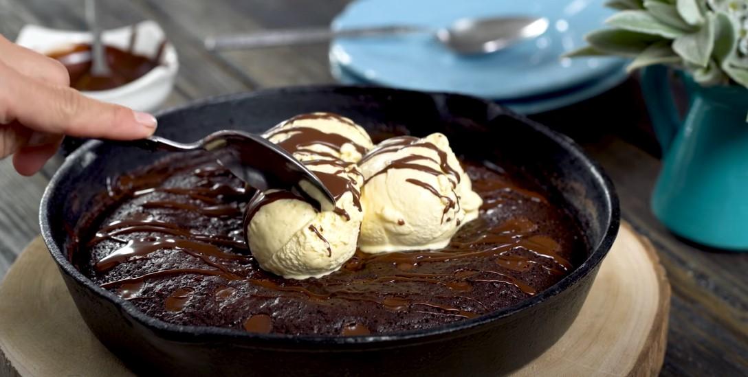 skillet brownie sundaes recipe