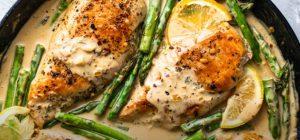 Lemon Garlic Chicken and Asparagus Stir Fry Recipe