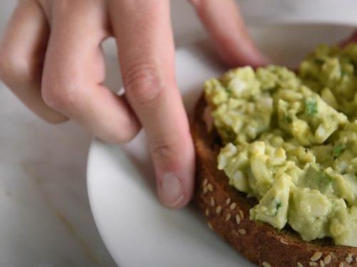 healthy avocado egg salad and salmon sandwich recipe