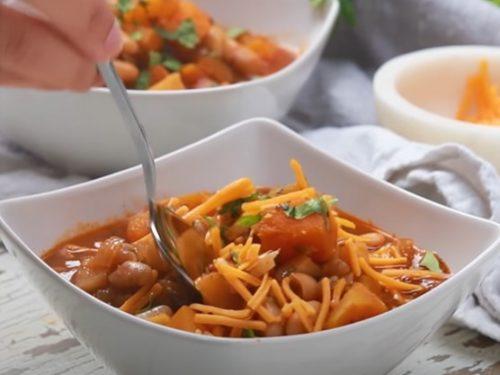 winter vegetable chili recipe
