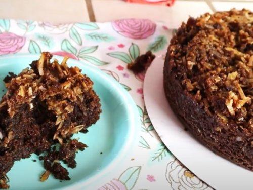 coconut caramel poke cake recipe