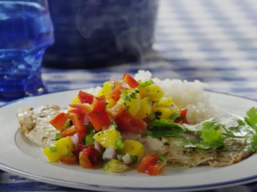 grilled tilapia with cherry salsa recipe