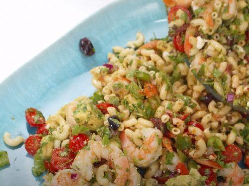 shrimp and veggie pasta salad recipe
