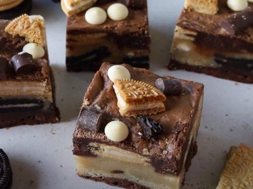 golden oreo cake batter blondies recipe