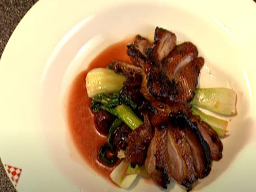 grilled sesame-marinated duck breasts with hoisin sauce recipe