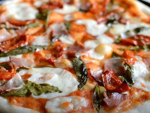 sun-dried-tomato, sausage, and fontina pizza recipe