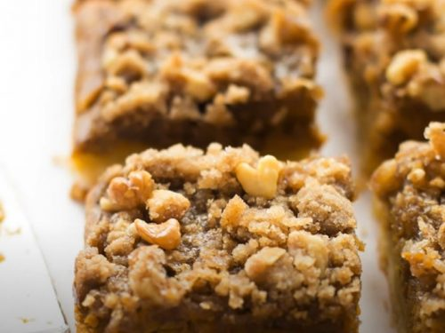 pumpkin streusel bars recipe