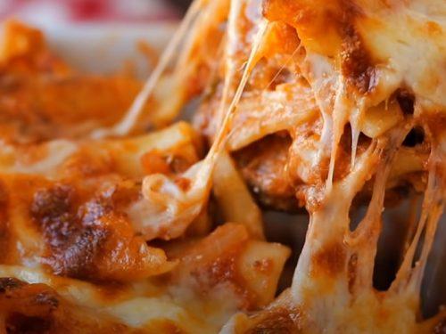 pizza baked ziti recipe