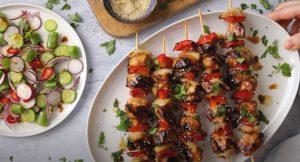 Honey-Garlic Chicken Skewers Recipe