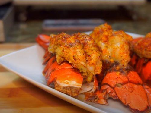 grilled cajun garlic butter lobster tails recipe