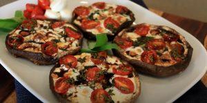 Grilled Bruschetta Portobello Mushrooms Recipe