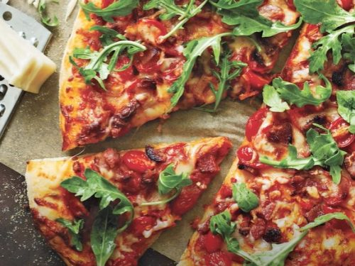 pizza pancetta and arugula salad recipe