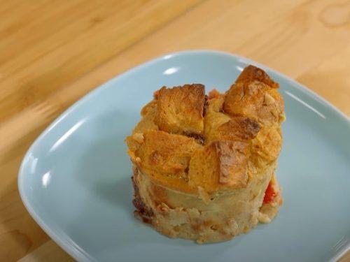 Easy Caramelized Banana Raisin Bread Pudding Recipe