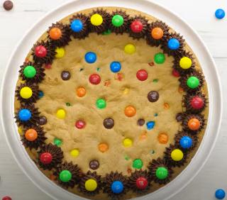 M&M Cookie Cake Recipe