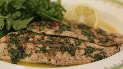 air fryer fish fillet with pesto sauce recipe