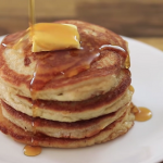 almond poppy seed pancakes with almond syrup recipe