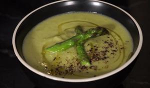 Asparagus Soup with Lemon and Parmesan Recipe