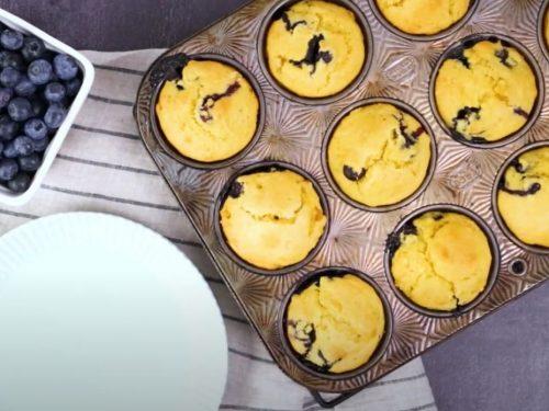 Banana-Blueberry Cornmeal Muffins Recipe