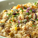 basmati pilaf with dried fruits and almond recipe