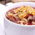 beef and tomato macaroni soup goulash soup recipe