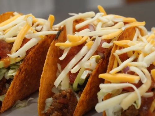beefy baked tacos recipe