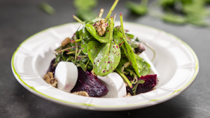 Beet Salad with Goat Cheese Toasts Recipe