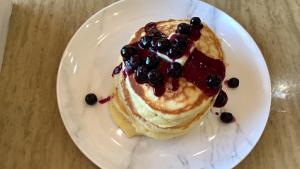 Blueberry Lemon Yogurt Pancakes Recipe