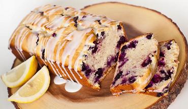 blueberry pie muffin bread with a lemon glaze recipe