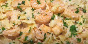 Bow Tie Pasta with Wild Mushrooms and Shrimp Recipe