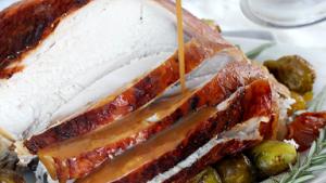 Brined and Roasted Turkey with Gravy Recipe